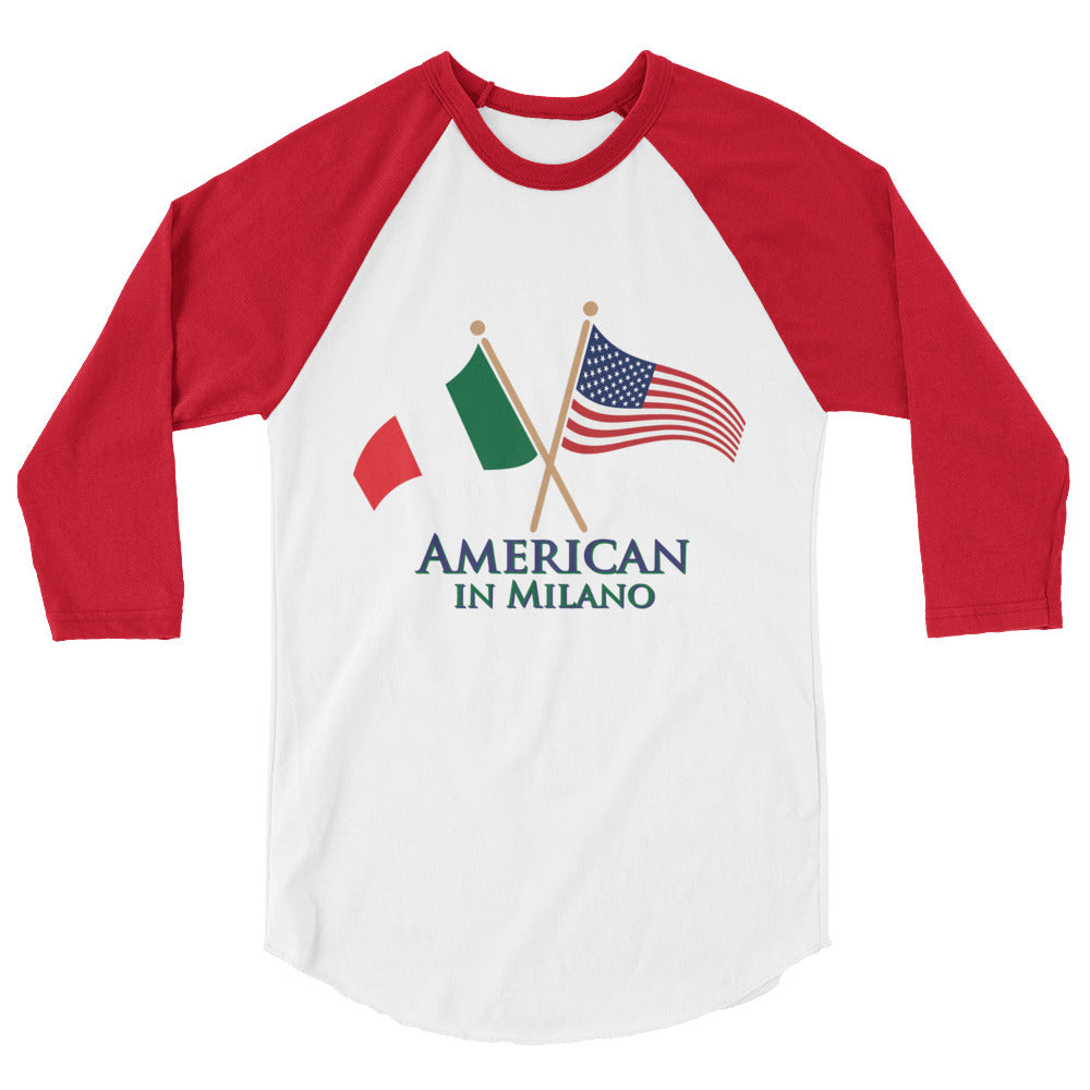 American in Milano 3/4 sleeve raglan shirt