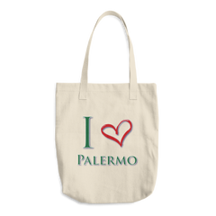 I Love Palermo Cotton Tote Bag