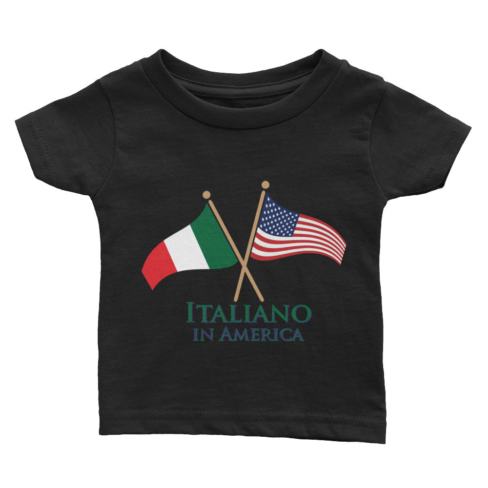 Italiano in American Infant Tee