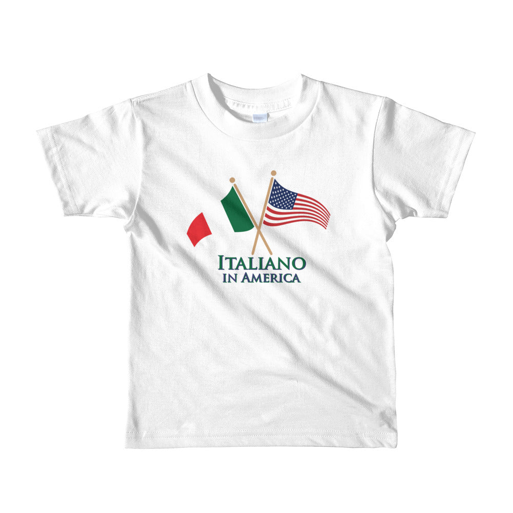Italiano in American Short sleeve kids t-shirt