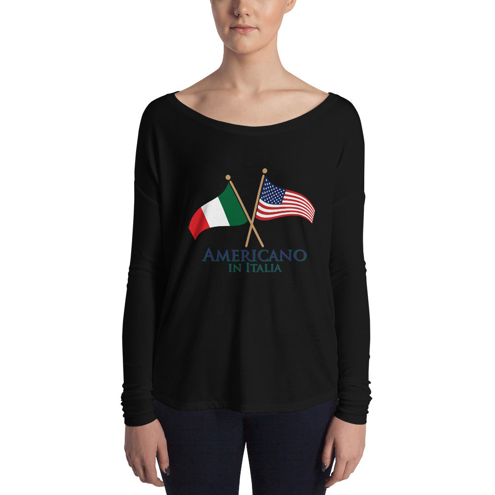 Americano in Italia Ladies' Long Sleeve Tee