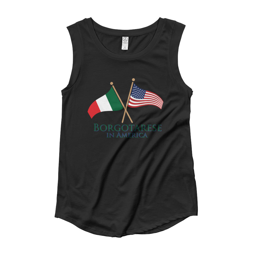 Borgotarese in America Ladies' Cap Sleeve T-Shirt