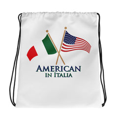 American in Italia Drawstring bag