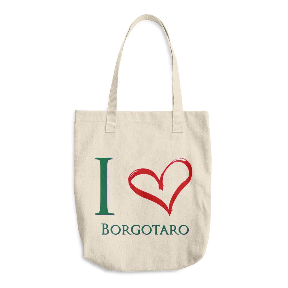 I Love Borgotaro Cotton Tote Bag