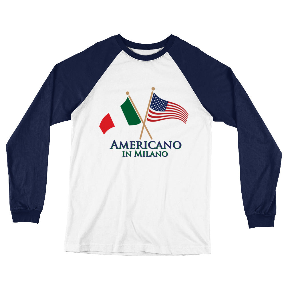 Americano in Milano Long Sleeve Baseball T-Shirt