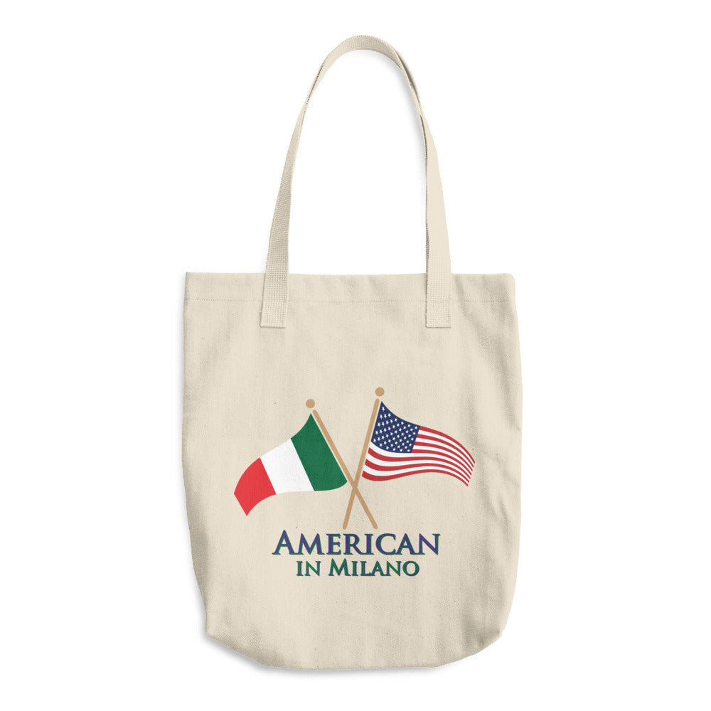 American in Milano Cotton Tote Bag