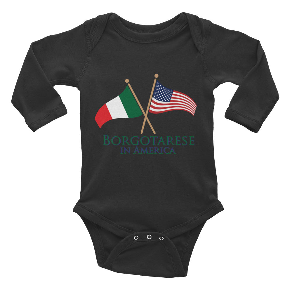 Borgotarese in America Infant Long Sleeve Bodysuit