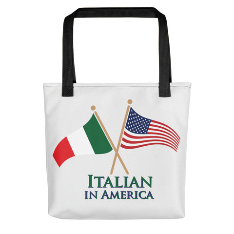 Italian in America Crossed Flags Tote bag