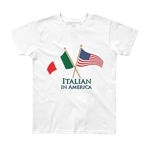 Italian in America Unisex Youth Short Sleeve T-Shirt