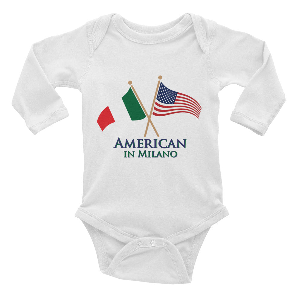 American in Milano Infant Long Sleeve Bodysuit