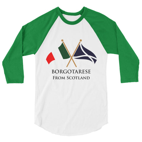 Borgotarese from Scotland Unisex 3/4 sleeve raglan shirt
