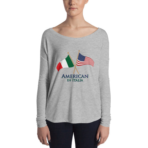 American in Italia Ladies' Long Sleeve Tee