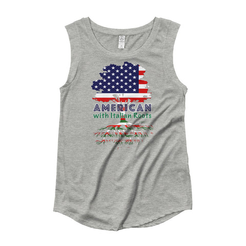 American with Italian Roots Style 1 Ladies' Cap Sleeve T-Shirt