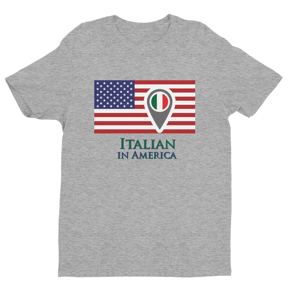 Italian in American Check In Unisex Short Sleeve T-shirt