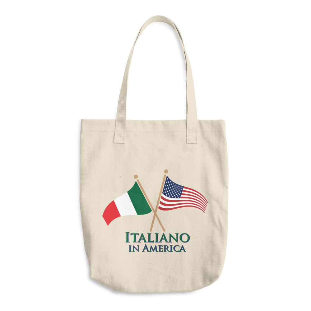 Italiano in America Cotton Tote Bag