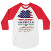 Image of American with Italian Roots Style 1 Unisex 3/4 sleeve raglan shirt
