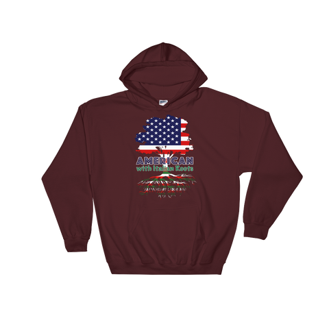 American with Italian Roots Style 1 Unisex Hooded Sweatshirt