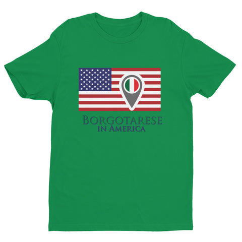 Borgotarese in America Check In Unisex Short Sleeve T-shirt