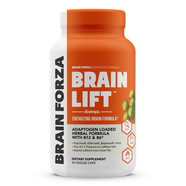 Brain Forza Brain Lift Nootropic capsules Teacrine KSM 66 l-theanine bacopa