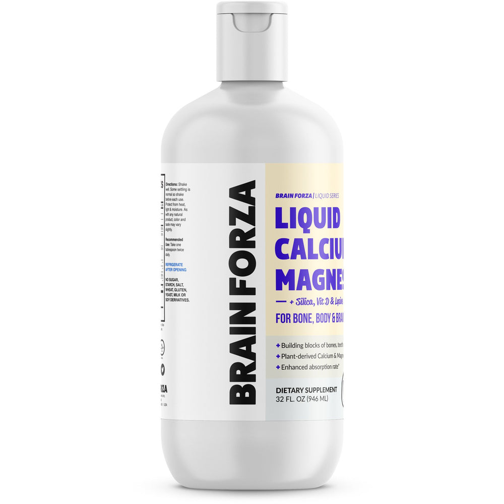 Brain Forza Liquid Calcium Magnesium Vitamin D Lysine Body Bone Formula