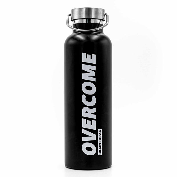Brain Forza Overcome Motivational Stainless Steel Water Bottle