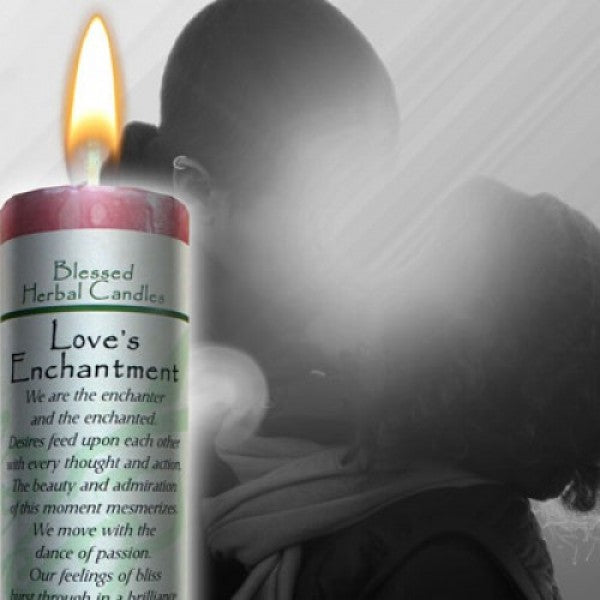 Blessed Herbal Candle - Love's Enchantment - Mistico Mimi Wellness Centre & Essential Oils by Mistico Mimi