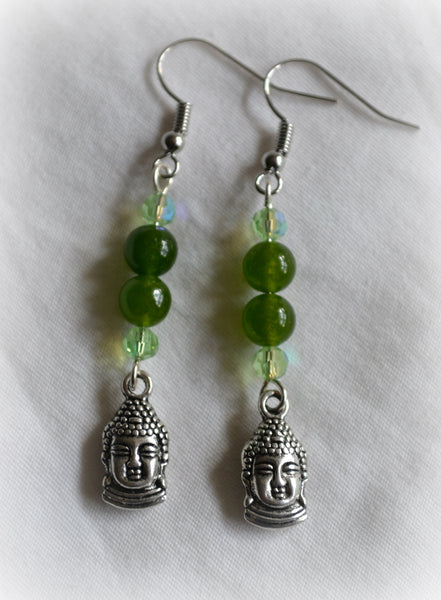 Green Aventurine Buddha Earrings - Mistico Mimi Wellness Centre & Essential Oils by Mistico Mimi