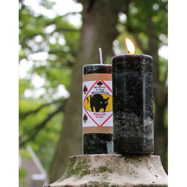 Black Cat Pillar Candle - Mistico Mimi Wellness Centre & Essential Oils by Mistico Mimi
