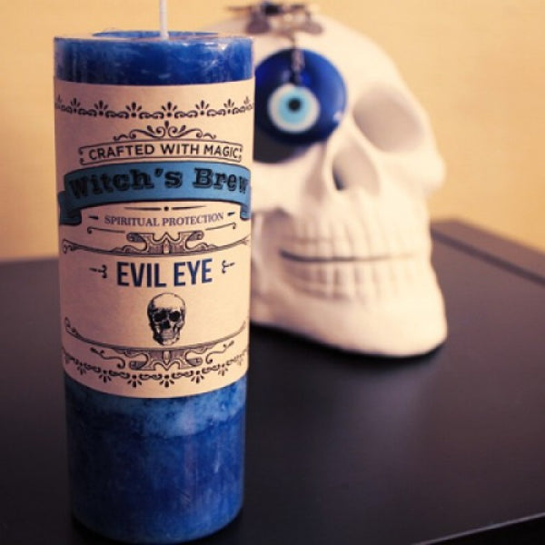 Evil Eye Pillar Candle - Mistico Mimi Wellness Centre & Essential Oils by Mistico Mimi