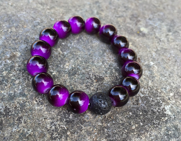 Kid's Essential Oil Bracelet - Purple Tiger - Mistico Mimi Wellness Centre & Essential Oils by Mistico Mimi