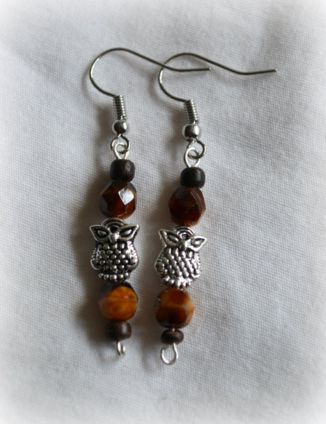 Tiger's Eye Owl Earrings - Mistico Mimi Wellness Centre & Essential Oils by Mistico Mimi