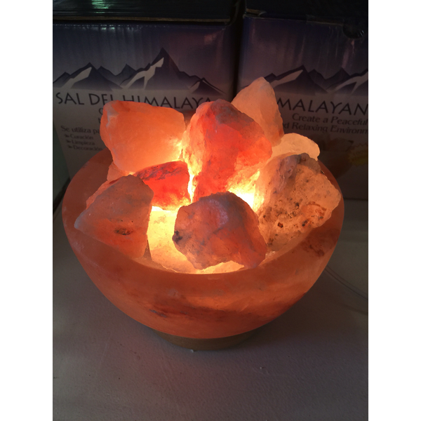 Himalayan Salt Bowl with Chunks of Himalayan Salt - Mistico Mimi Wellness Centre & Essential Oils by Mistico Mimi