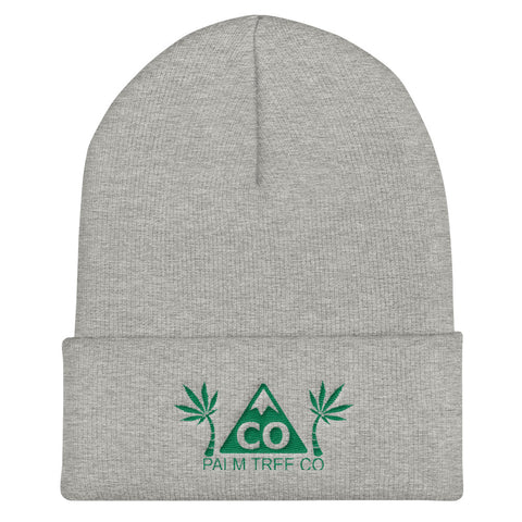 Colorado Palm Tree CO Cuffed Beanie