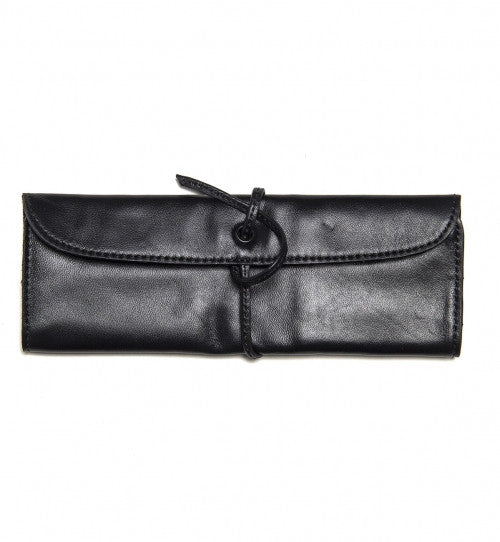 LEATHER PEN CASE BLK