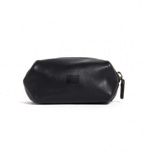BLVCK LEATHER ZIP POUCH (SMALL) BLACK