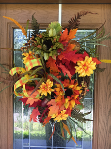 Fall Grapevine Wreath with Sunflowers