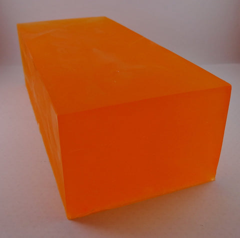 Mango Papaya Glycerin/Olive Oil Soap Loaf