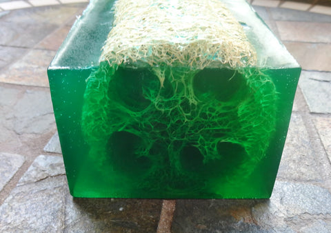 Green Irish Loofah Soap Loaf