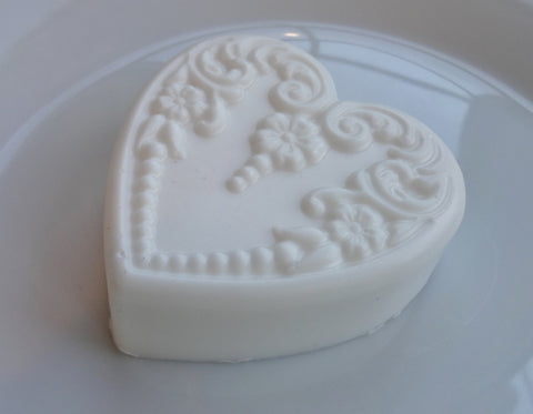 Victorian Heart Soap - White