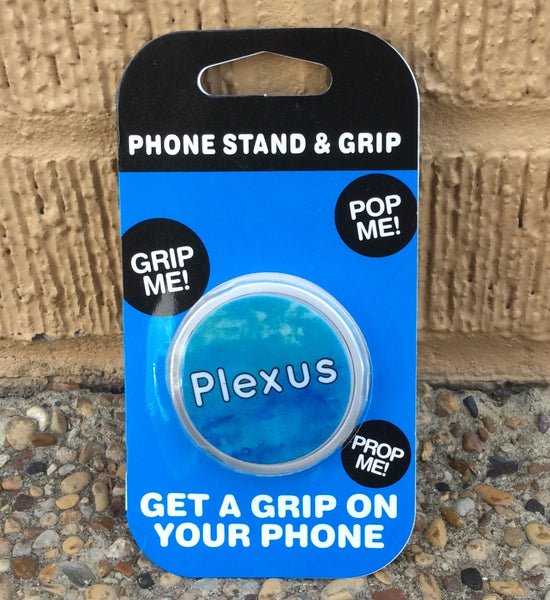 Phone grip and stand #4 Blue  Plexus