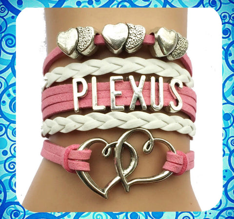Light Pink Hearts Plexus Bracelet