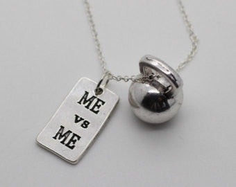 Kettlebell me vs me necklace