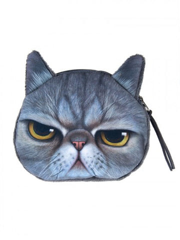 Angry Cat Coin Purse