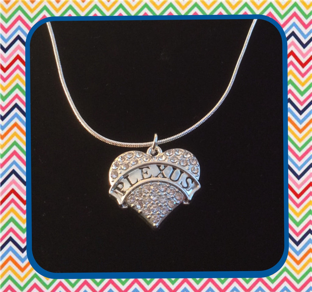 Plexus Crystal Heart Charm Necklace
