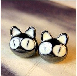 Little Black Cat Earrings