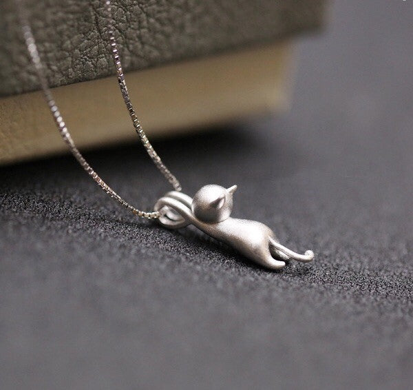 Hanging on Sterling Silver Necklace