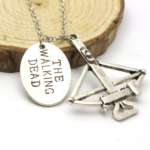 A Walking Dead Crossbow Necklace
