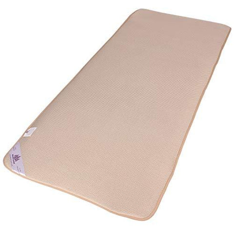 3-D Air Mesh Pad 8mm Thick - Cushion Far Infrared Heating Mat - Eliminate Crystals Pressure - Breathable - PEMF, Ion, FIR Heat Permeable - Gray or Tan - Four Straps to Fix