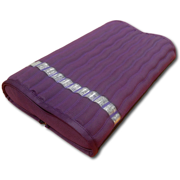 "Ereada Amethyst Pillow 19""L x 12""W x 3.3""H Purple GENTLE with Detachable Pad"
