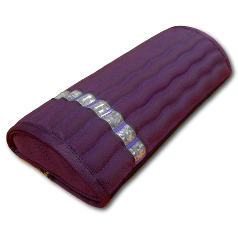 "Ereada® Amethyst MINI Pillow 17""L x 7.5""W x 3""H Purple GENTLE with Detachable Crystals Pad"